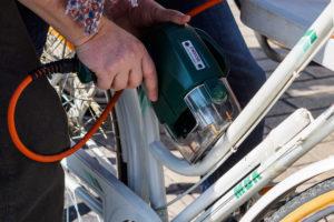 Gravure bicycode sur la cadre